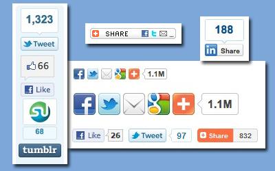 кнопки социальных сервисов